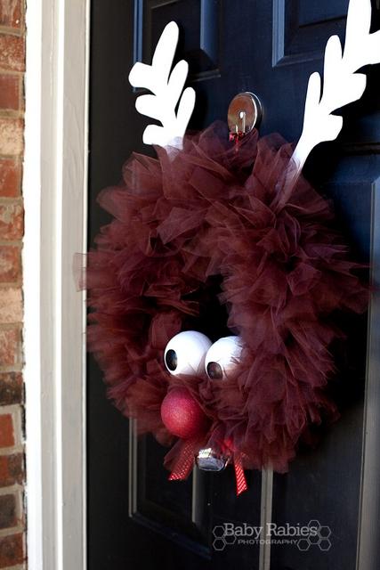 reindeer tulle wreath