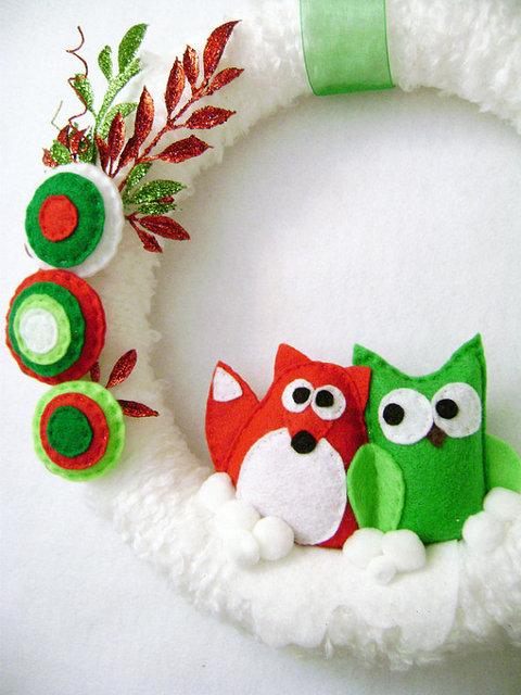 cute winter wreath