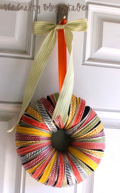 canning lid wreath
