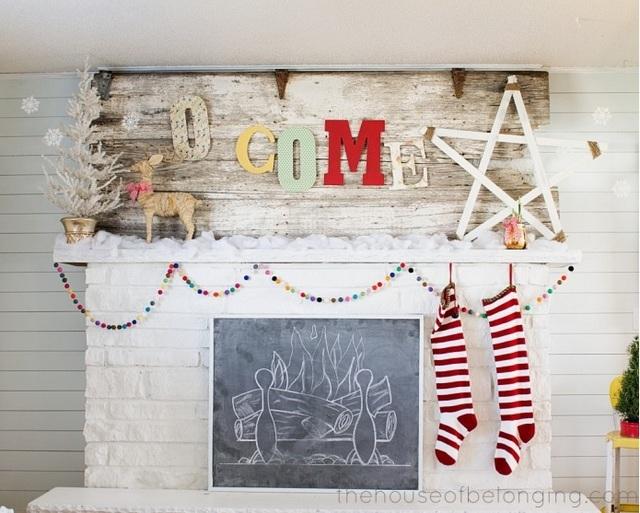 faithful Christmas mantel