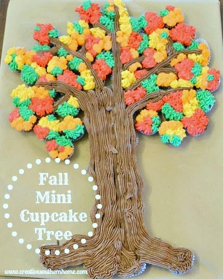 fall cupcakes tree