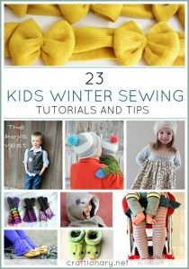 kids winter sewing