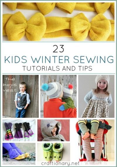 kids winter sewing