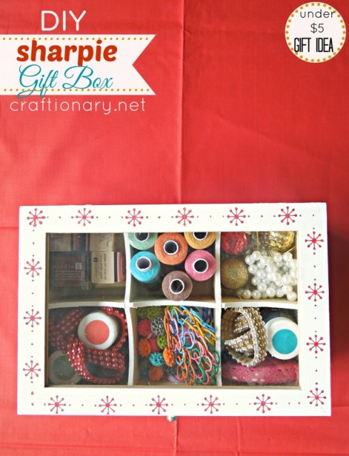 DIY gift box sharpie crafts idea