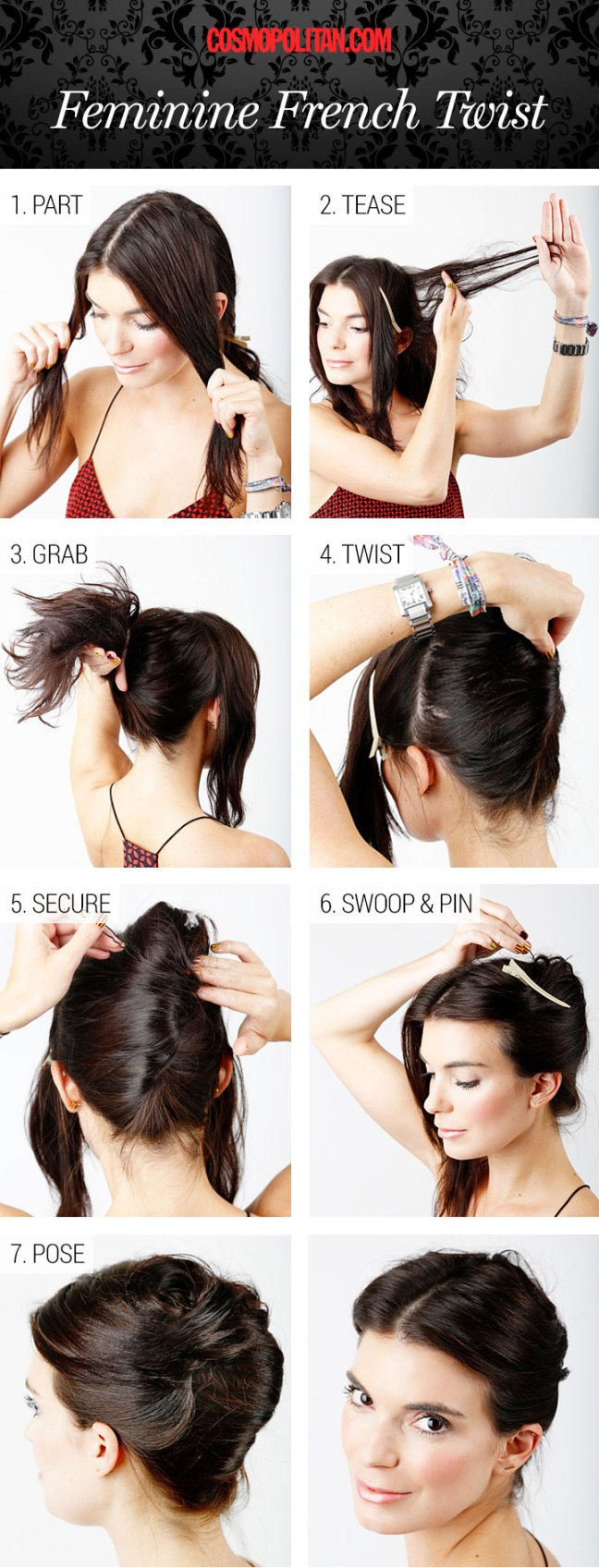french twist hairstyle hair tutorial