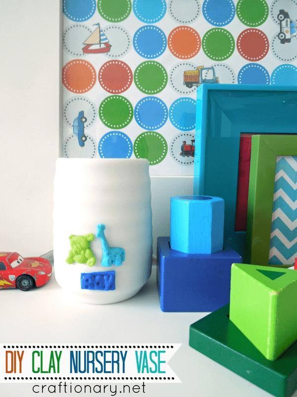 DIY clay vase tutorial baby nursery