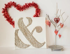 valentine ampersand thumbtact art