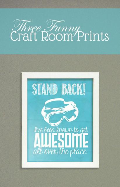 funny craft room prints