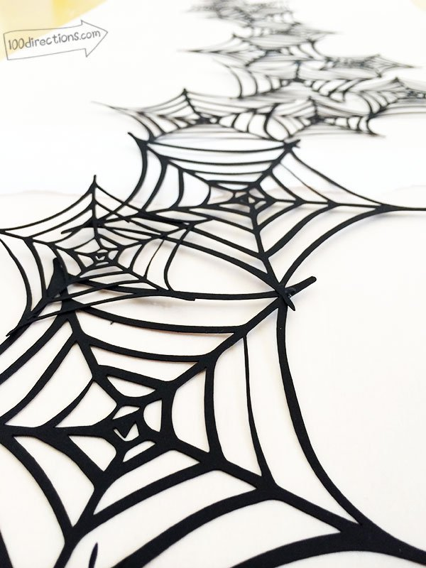 halloween spider web garland