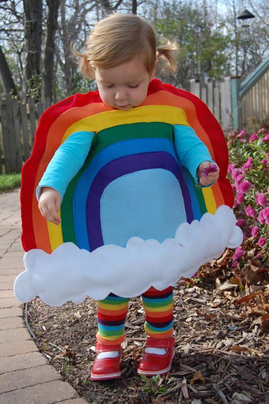 rainbow baby costume