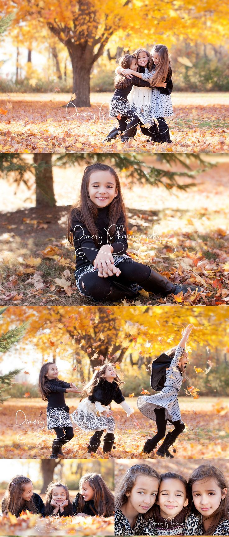 autumn playful kids photo idea