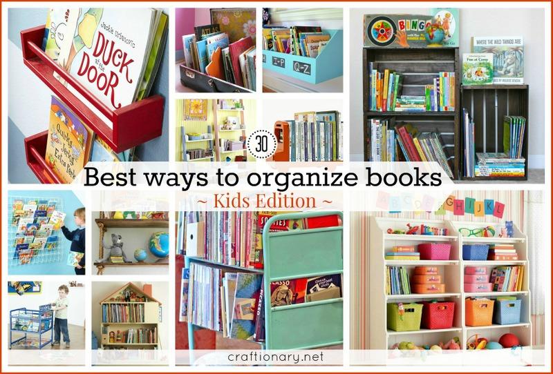 30 best ways to organize books