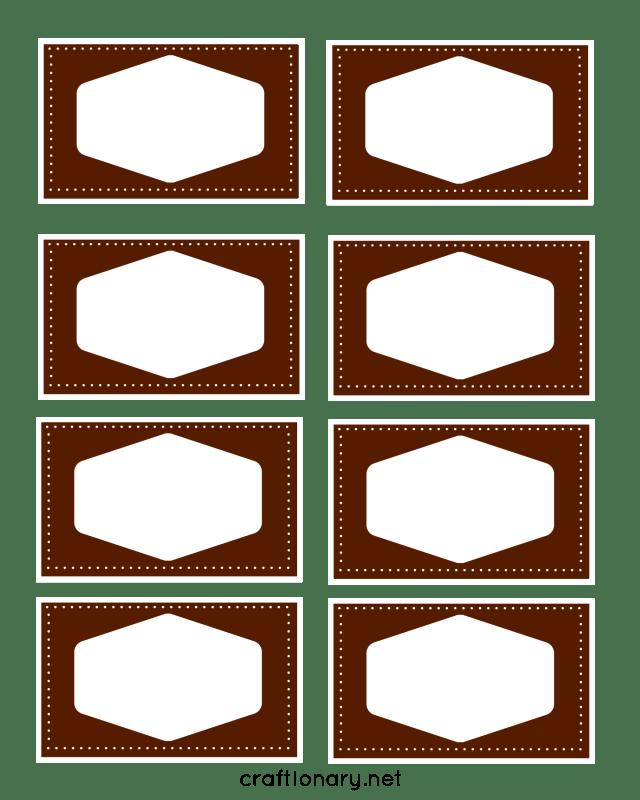 book label printable brown