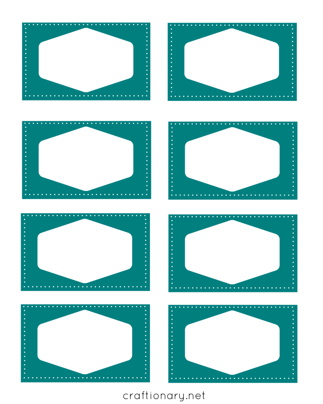 book labels printables blue