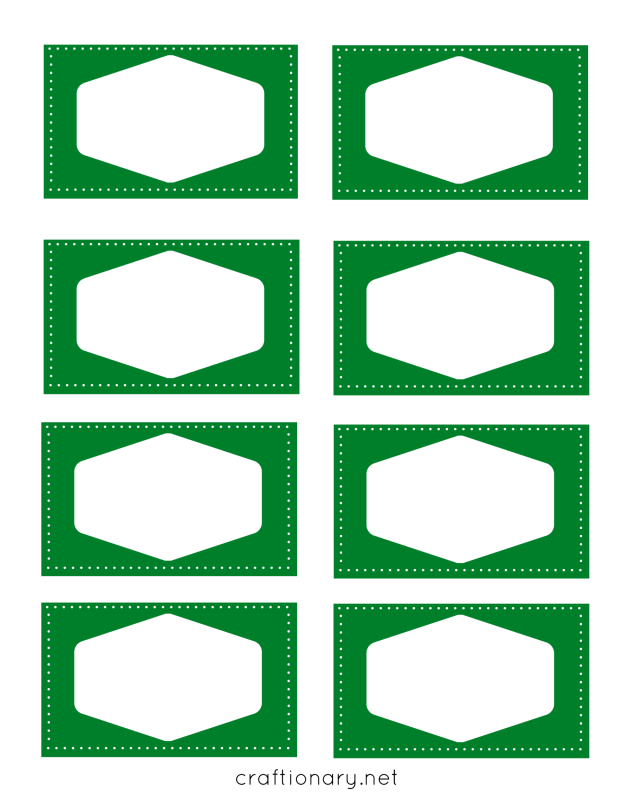 book label printables green
