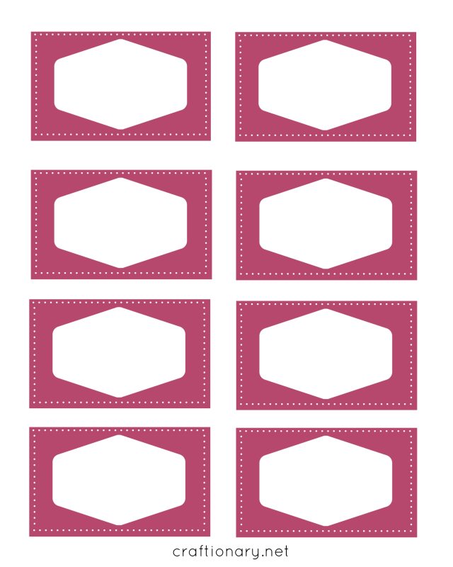 book label printables pink
