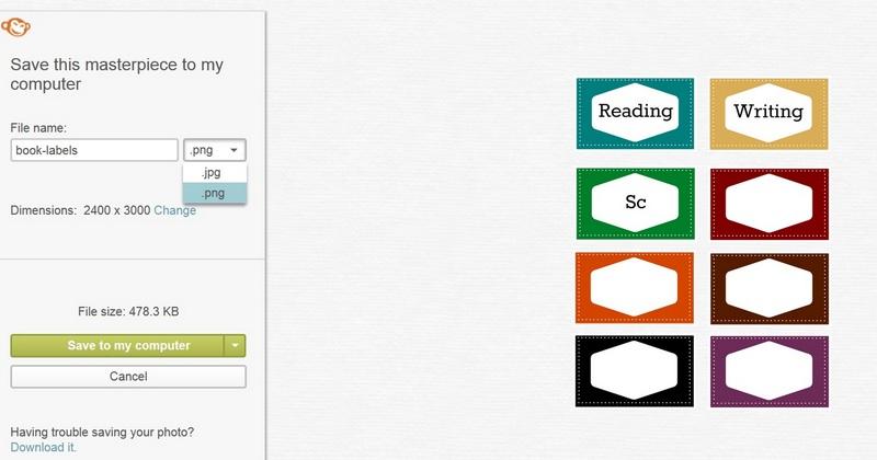 book labels tutorial 4