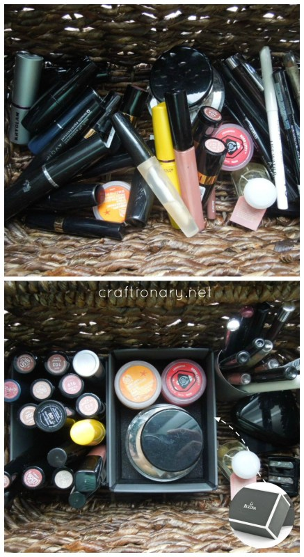 home organization makeup tips