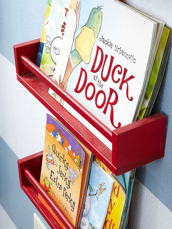 organize books on spice rack turned books storage
