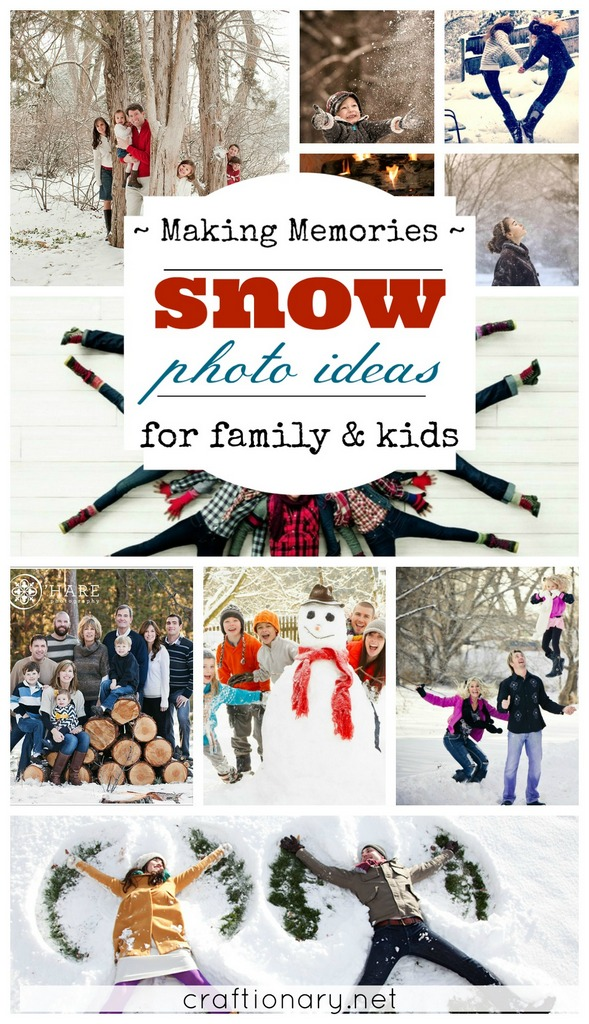 Best snow photo ideas to make memories at craftionary.net