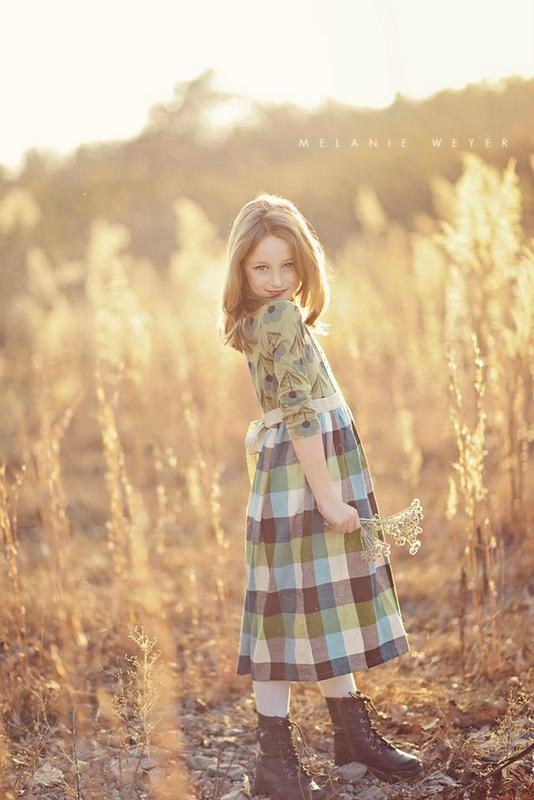 fall fields photo idea for kids