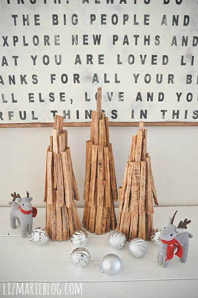 Rustic pine Christmas tree - craftionary.net