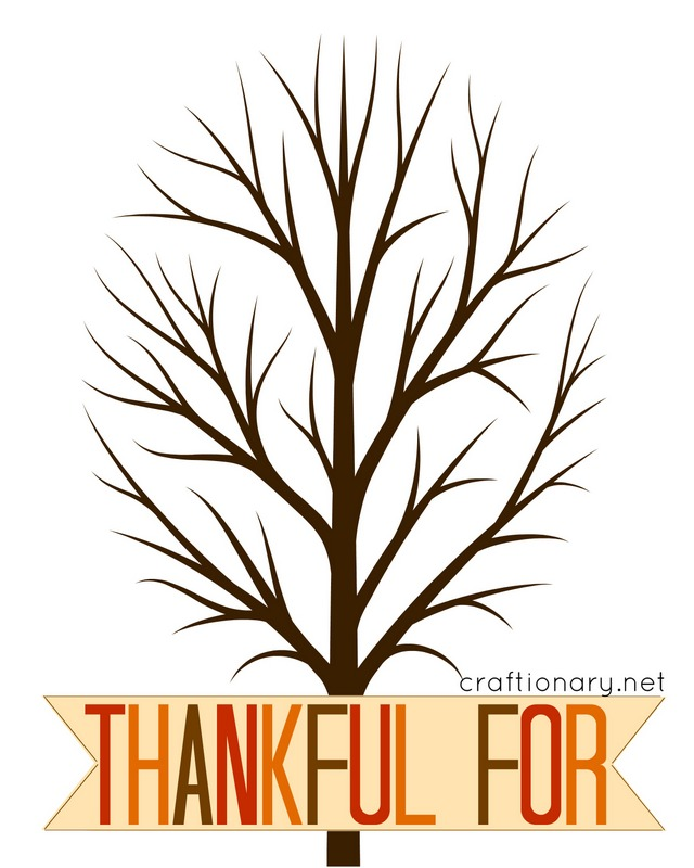 thankful free printable tree