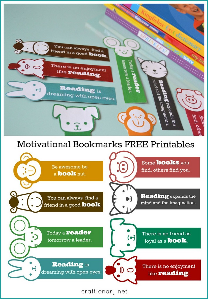 Diy Motivational Bookmarks For Kids Free Printable Craftionary