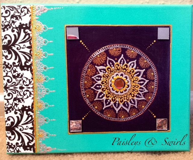 Mix media Henna Art Canvas