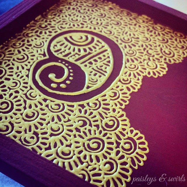 Creative henna art tray