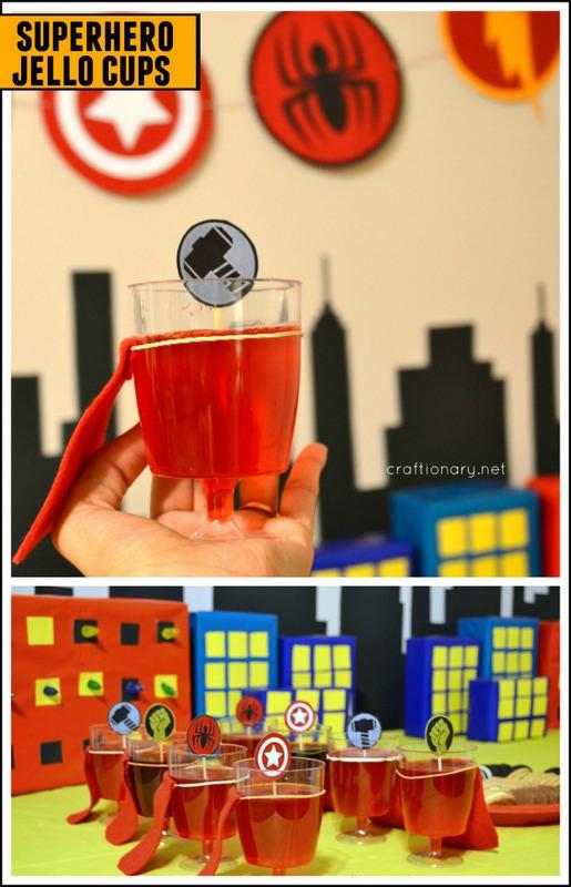 superhero cape jello cups