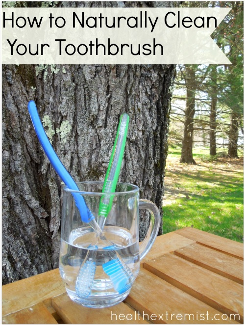 how to clean a toothbrush