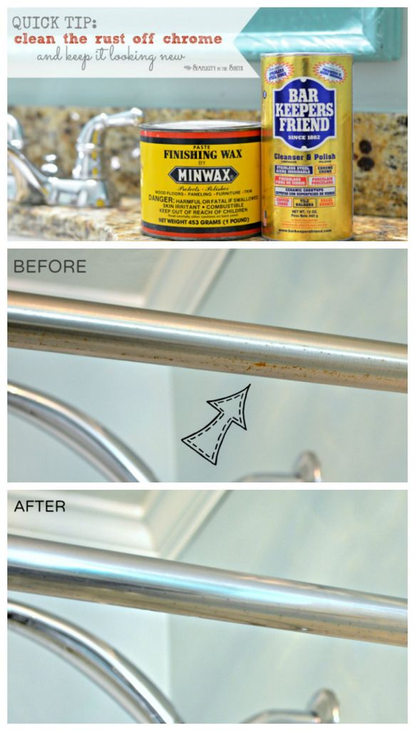 how to clean rust in the bathroom