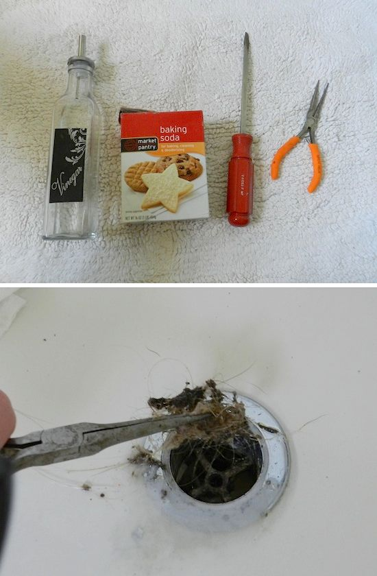 step by step tutorial on cleaning bathroom drain