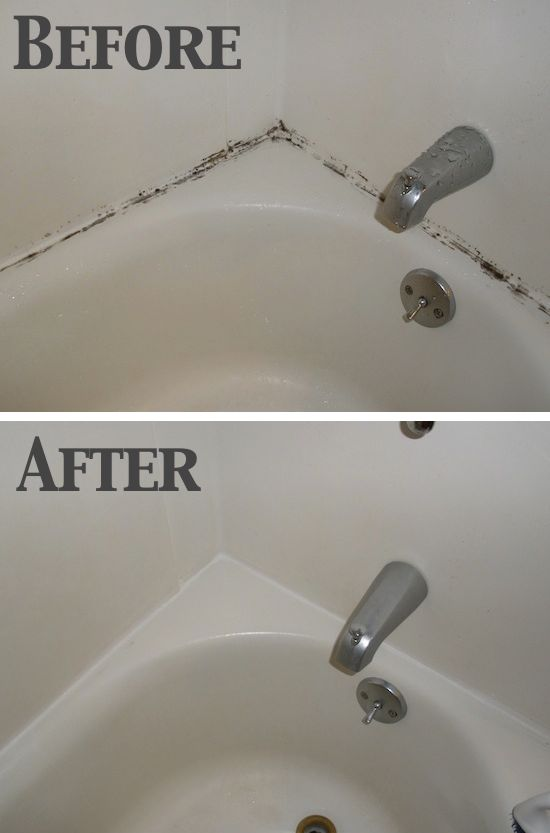 get rid of moldy grout in the bathroom