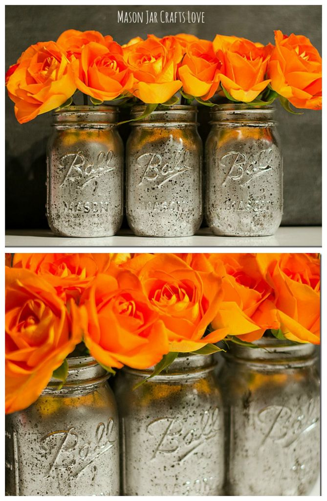 how to make mercury glass mason jars