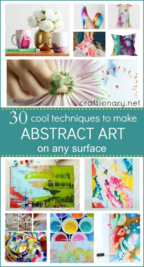 make abstract art projects