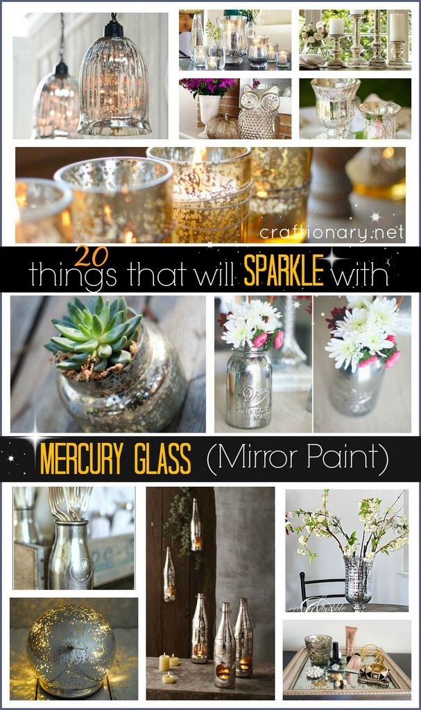 20 Things That Will Sparkle With Mercury Glass Mirror Paint Craftionary