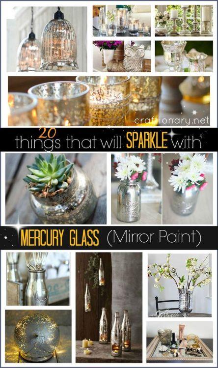Mercury mirror glass paint ideas