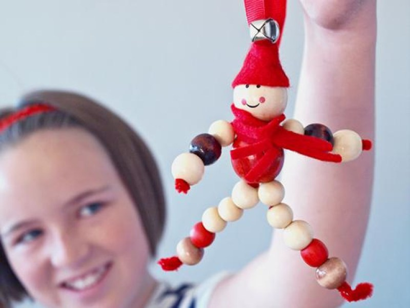 beaded elf doll