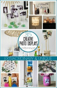 Unique DIY photo displays at craftionary.net