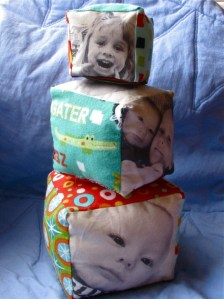 Fabric Photo Blocks