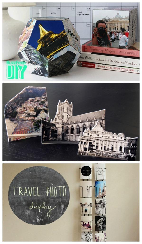 diy photo display for travelers