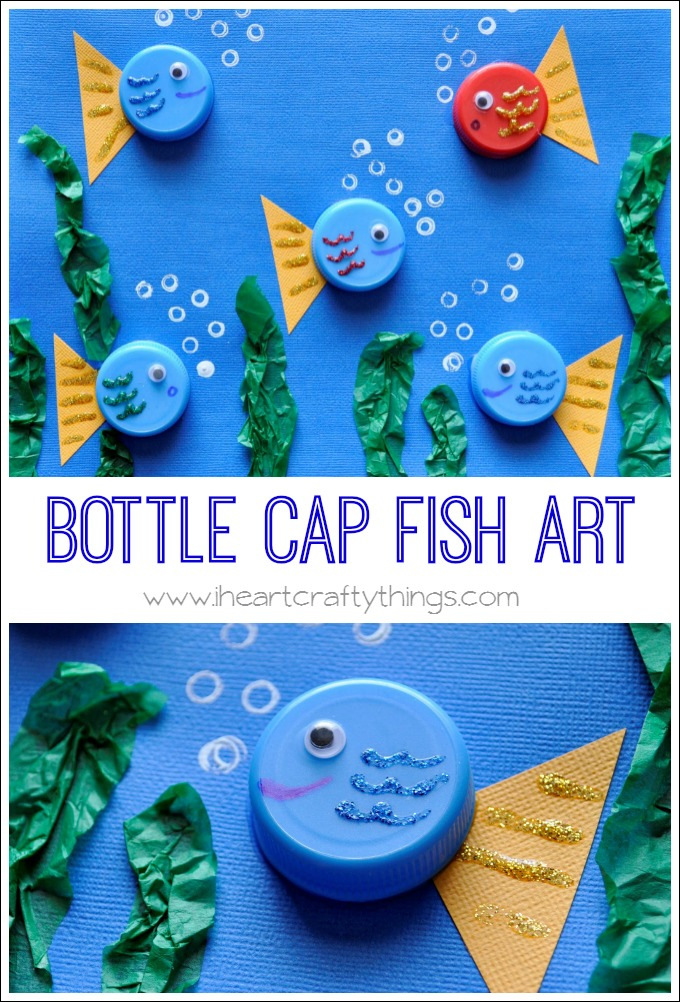 Bottle Cap Fish Art