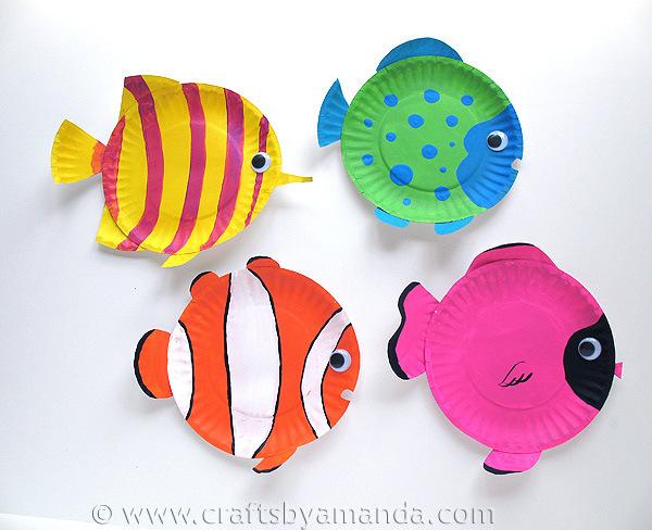 Paper plate sea creatures