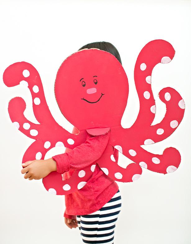 cardboard octopus costume
