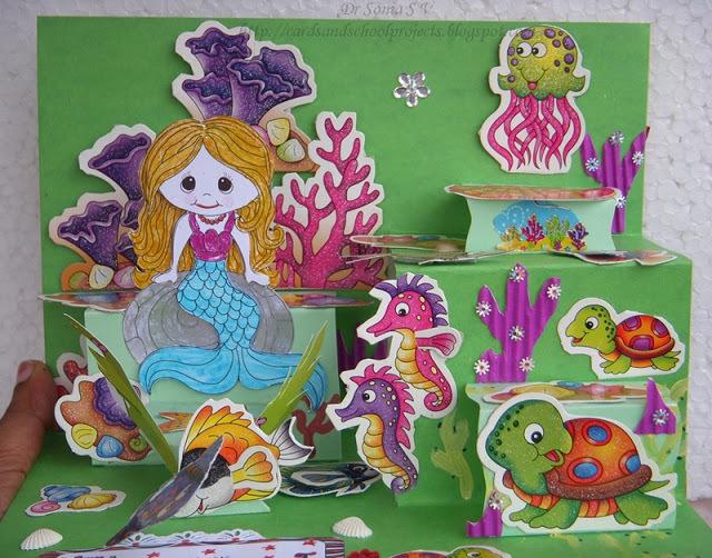 diorama pop up card