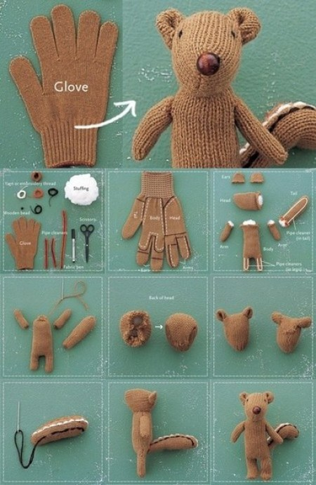 glove squirrel puppet