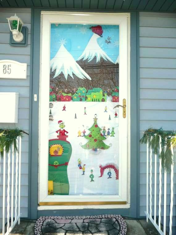 Winter door decoration
