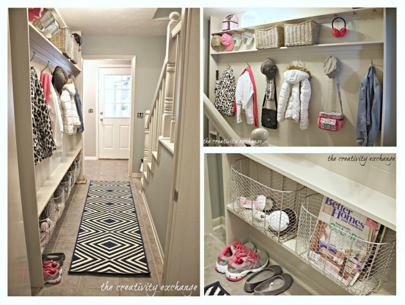 Built in mudroom